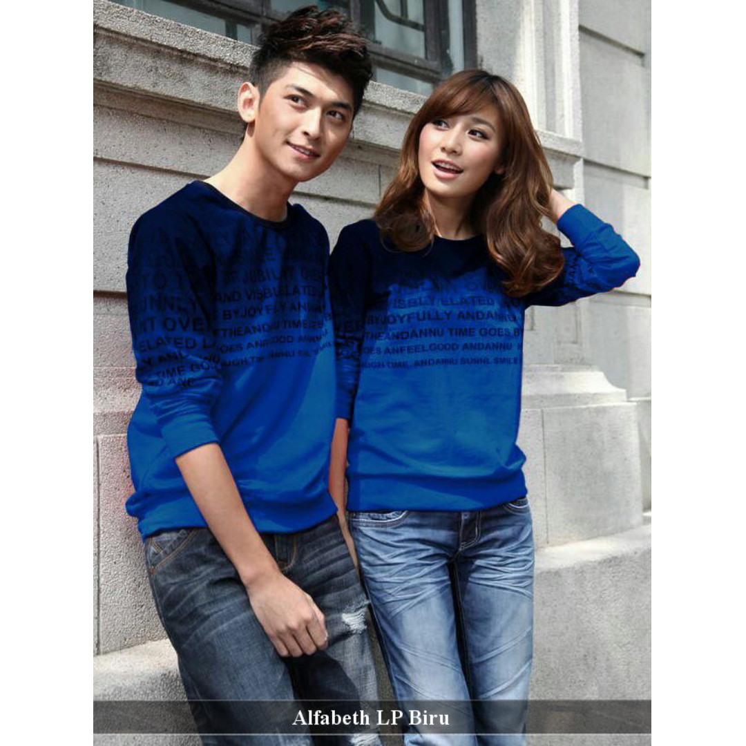 grosir eceran sweater couple murah lengkap- kaos panjang couple -Alfabeth LP
