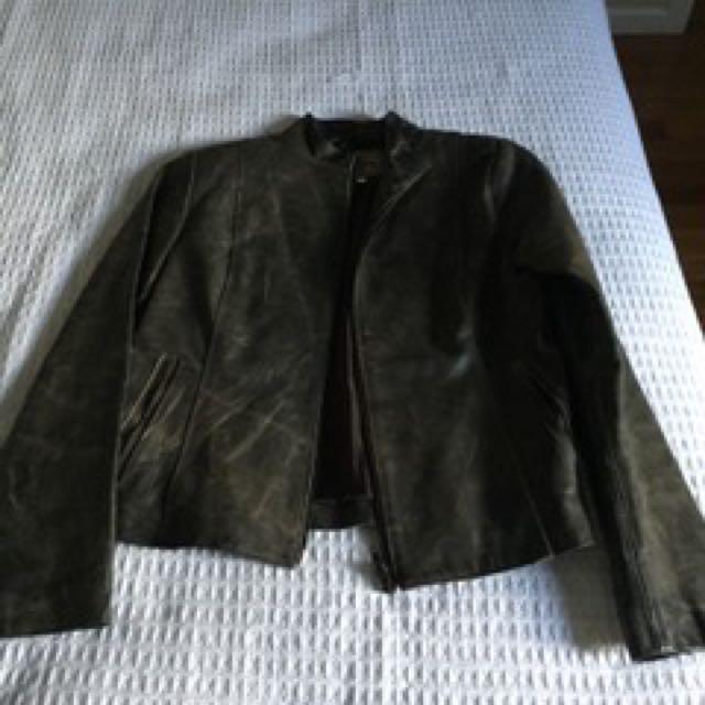 Italian leather jacket size small