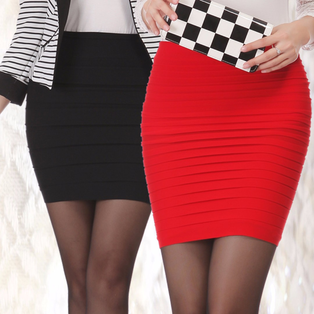 676861fe14 Korean Fashion High Waist Elastic Pleated Short Skirts SK001 ...
