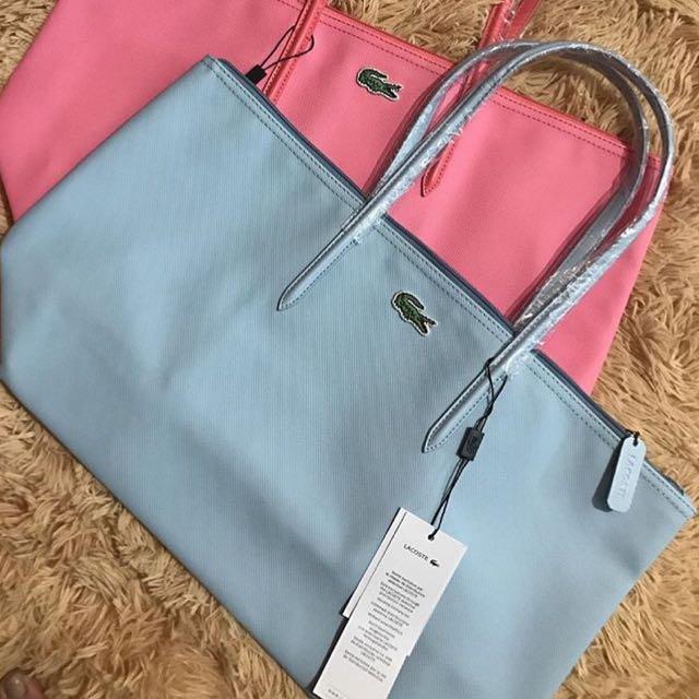 7fda74171 Lacoste Tote Baby Blue Bag