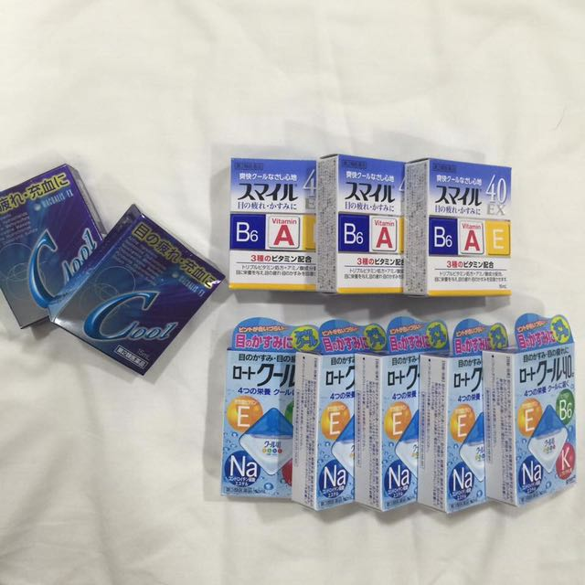 LION brand cooling eyedrops (Japan)