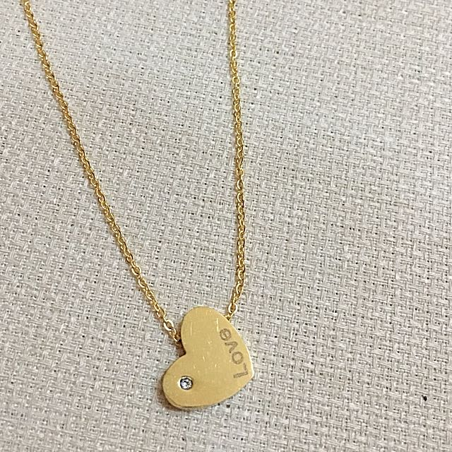 LOVE Series: Gold ❤️ Love with gem