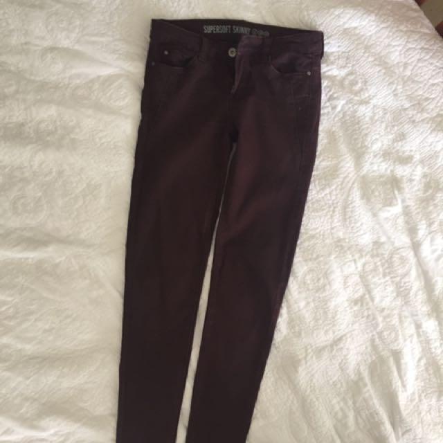 🌻maroon jeans