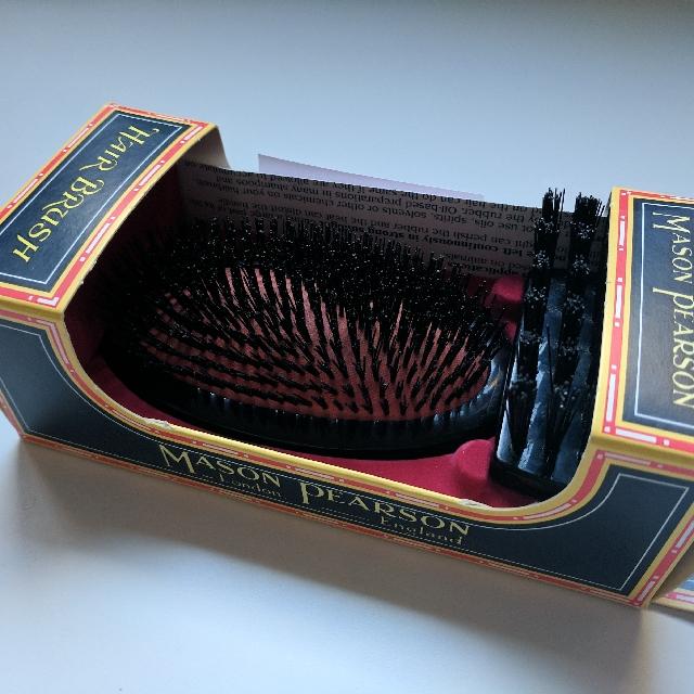 Mason Pearson B2M Small Extra Military Shape Medium Size Hair Brush Boar Bristle Made In England Best Natural Bristle Hairbrush Ever!