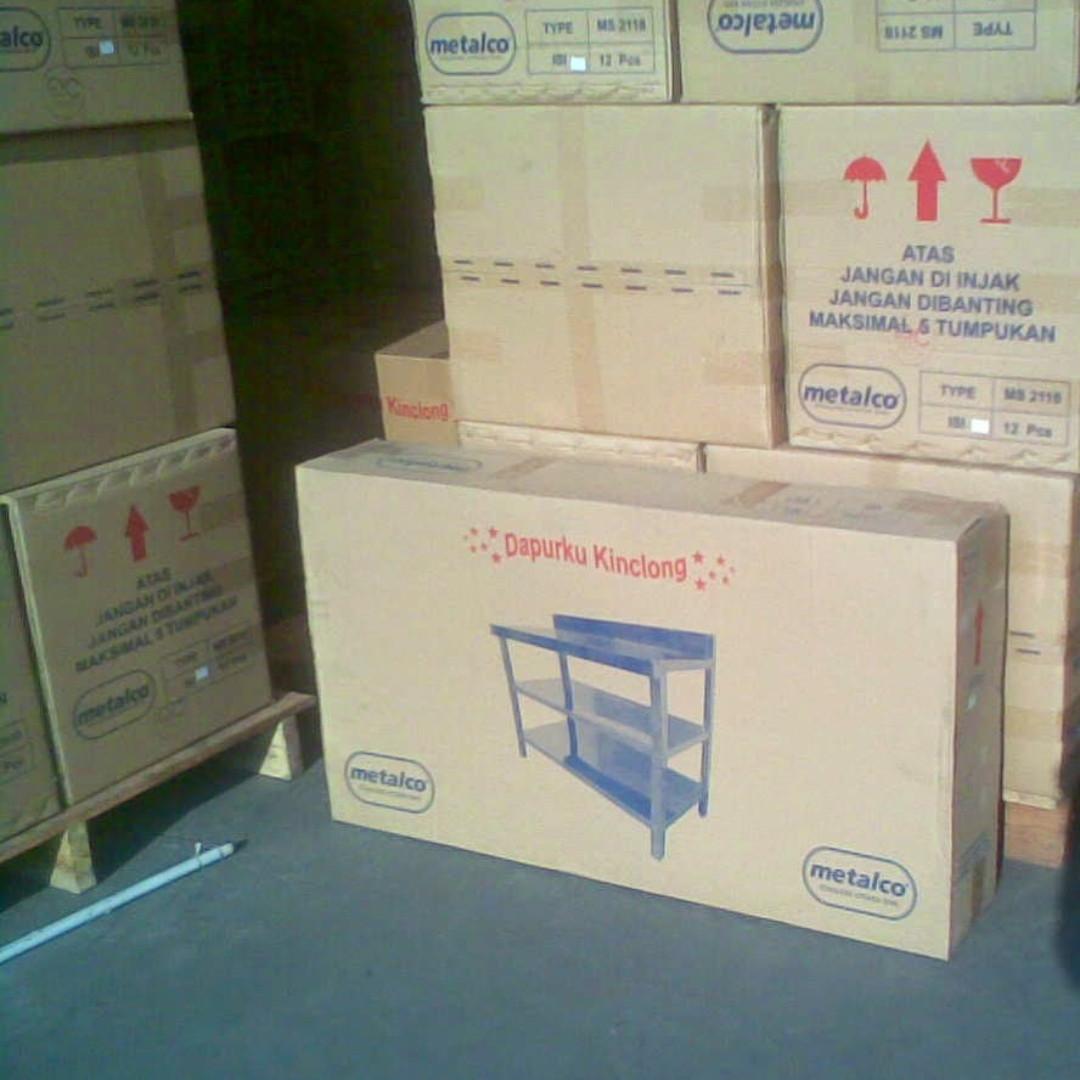 Meja Dapur Kompor Stainless Steel 2 Rak Serbaguna Metalco Daftar Tv Mt 3 Harga Pabrik