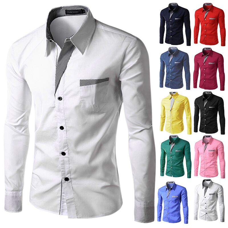 97365988e66e Men's Long Sleeve Shirts Korean Slim Design Formal Casual Shirts, Men's  Fashion, Clothes on Carousell