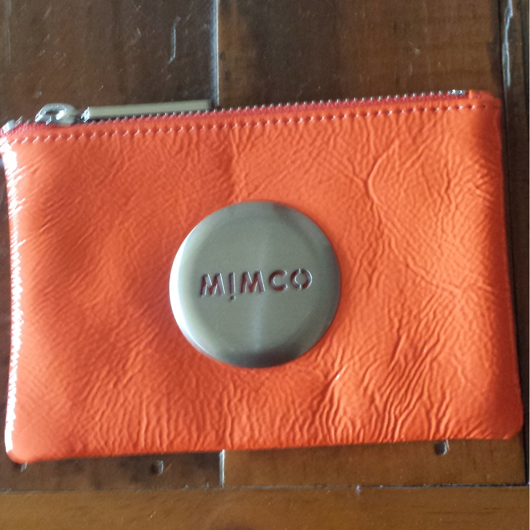 mimco sunset orange small pouch