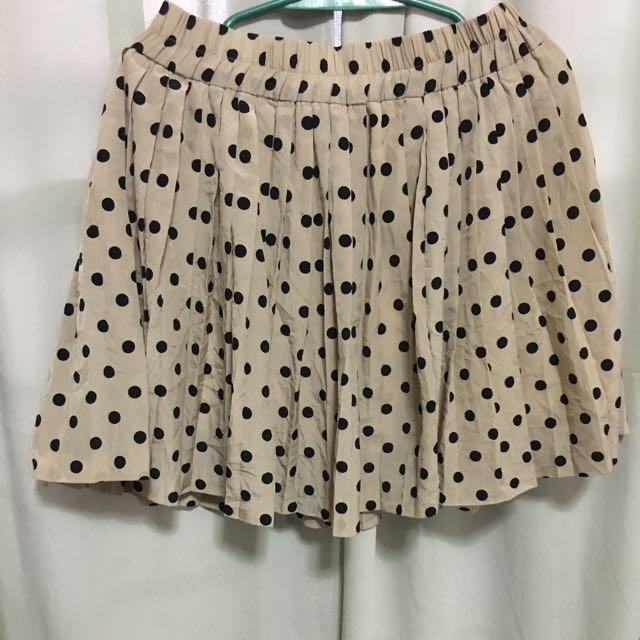 Nude Polka Skirt