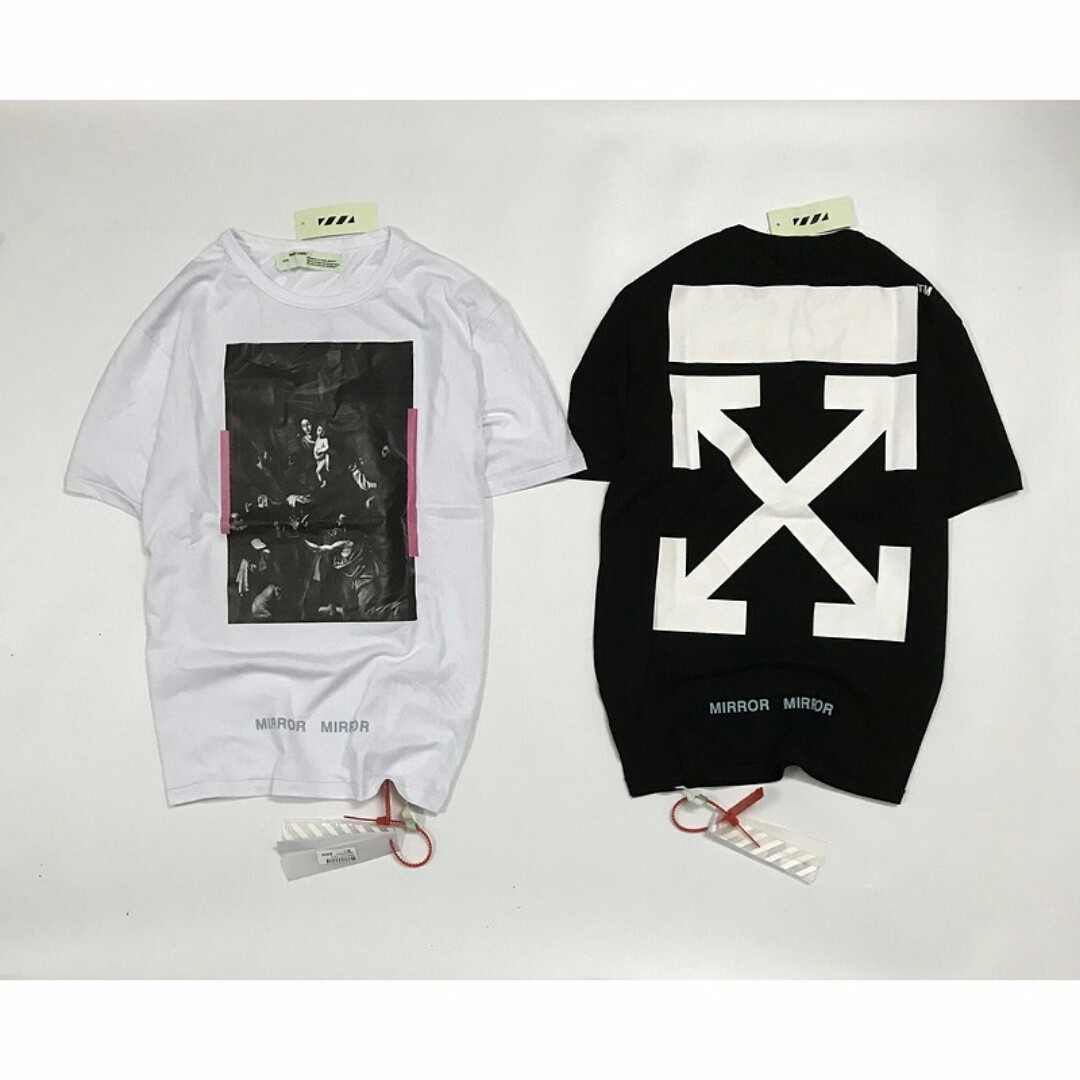 defb3a0c93d2 Off White Black and White Religion Arrow Tee