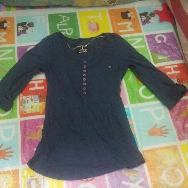 old navy 3/4 blouse