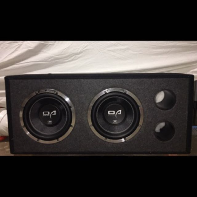 Option Audio Pro Series Sub Woofer and Amplifier