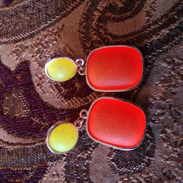 Orange And Yellow Earrings