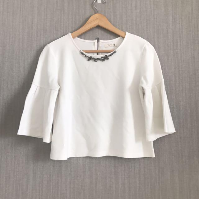 P&C Jeweled White Top