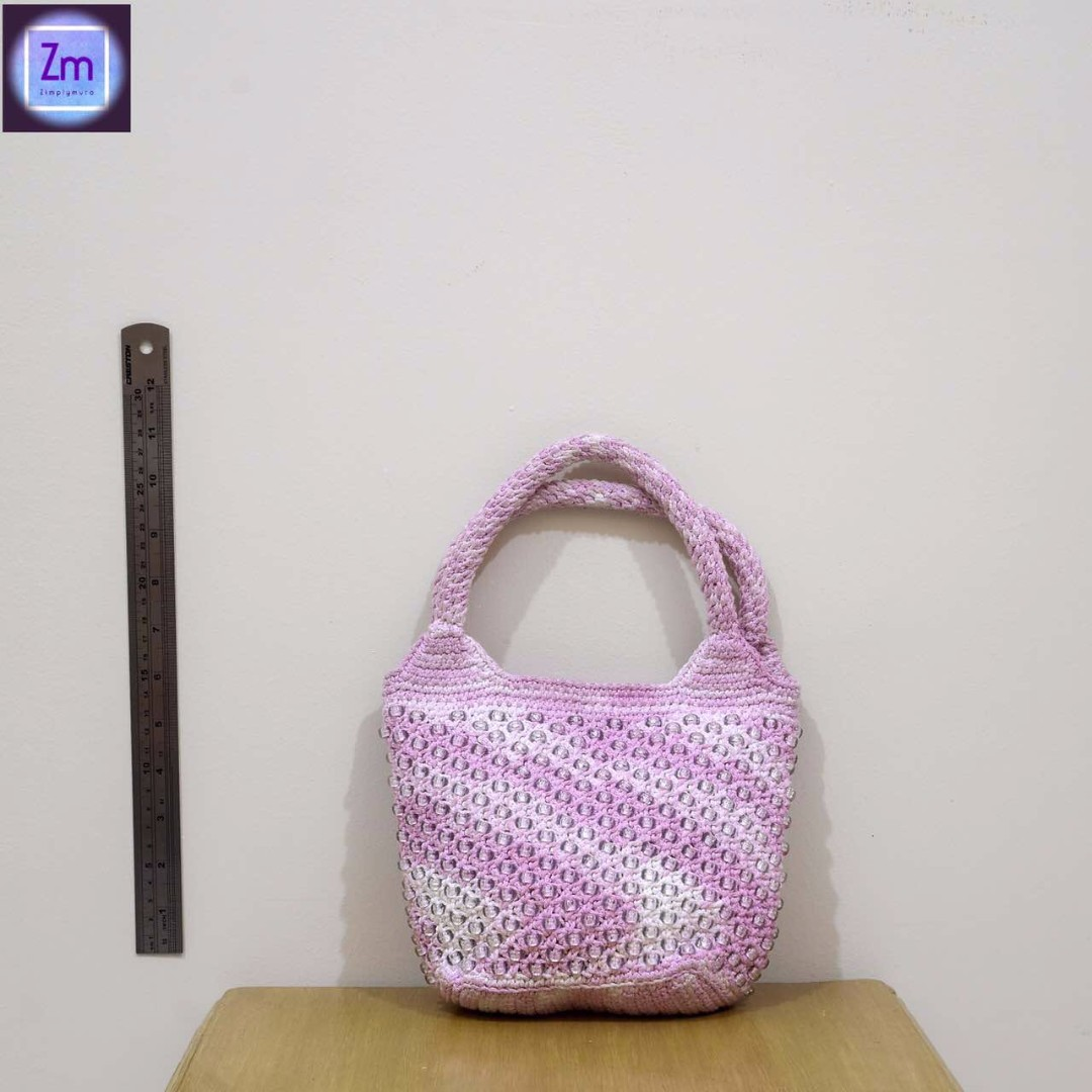 Pink Embroidered Handbag (BPNO#17)
