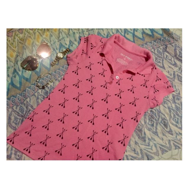 pink Tee party polo