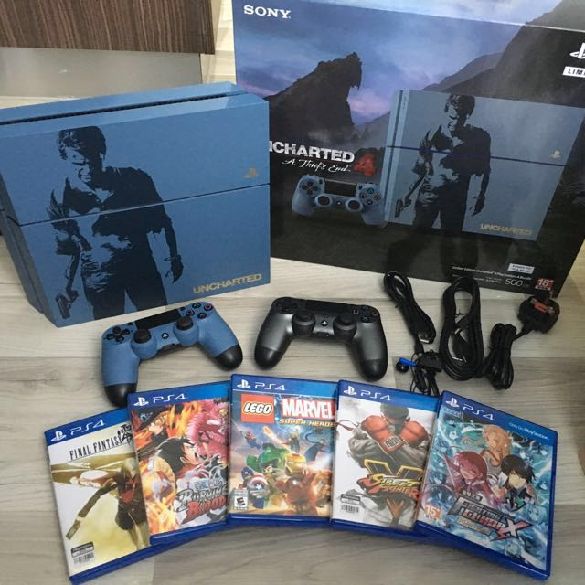 Playstation 4 Uncharted 4 Limited Edition Bundle Toys Games