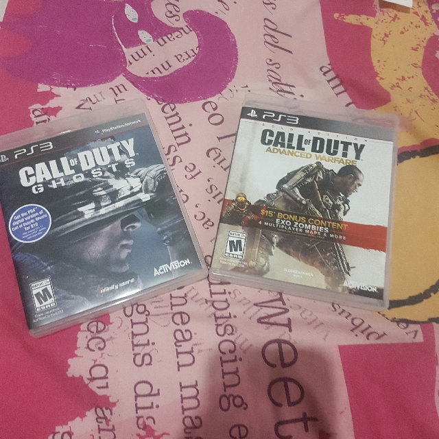 PS3 Call Of Duty Ghosts and Advanced Warfare