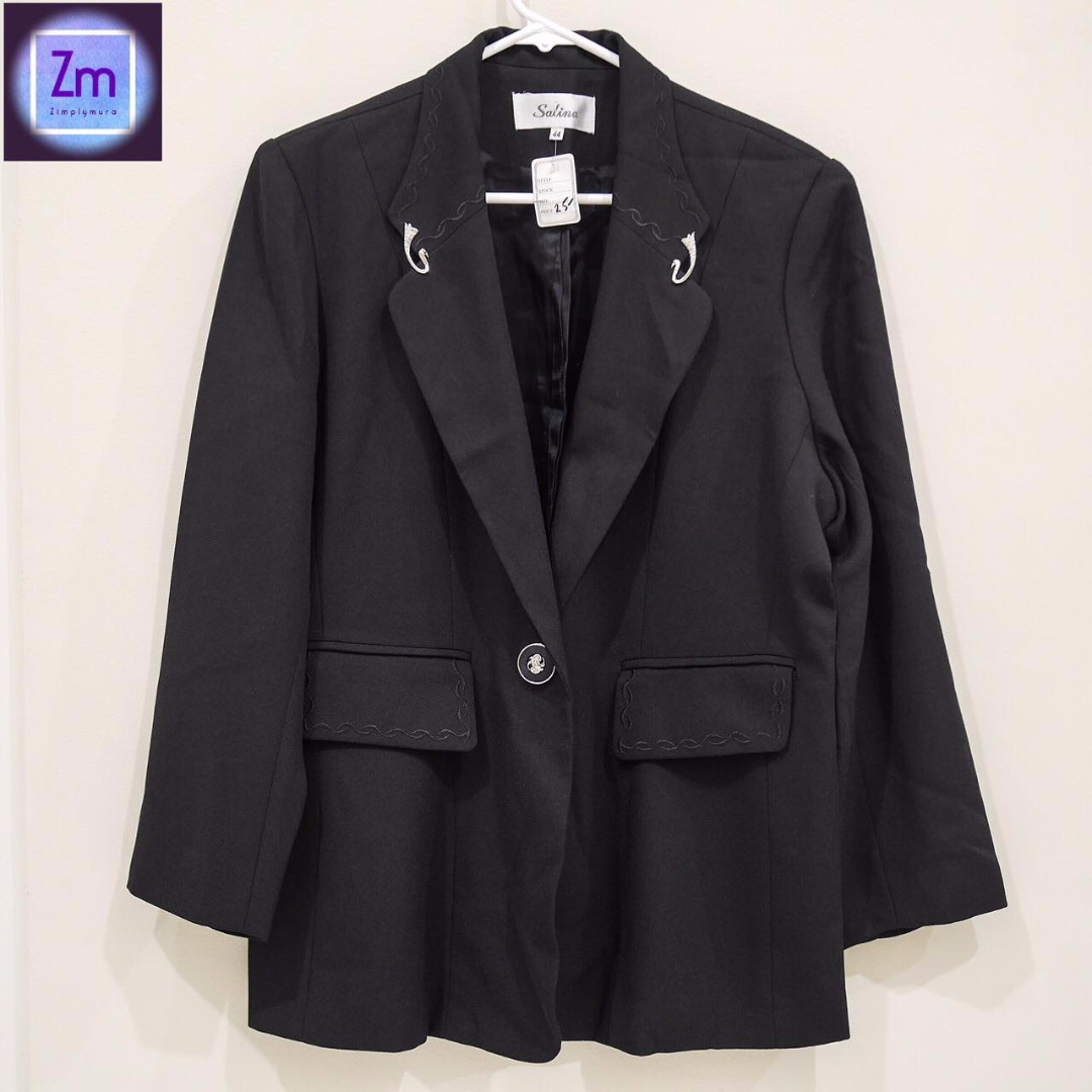 SALINA (New with Tag) Black Blazer (LBCA#12)