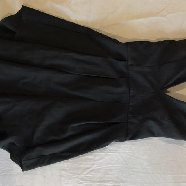 Showpo Strapless Black Dress
