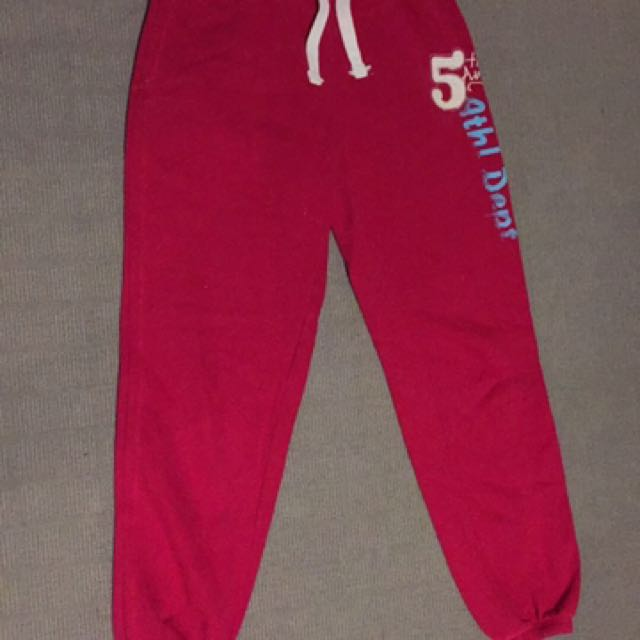 Size M Red Trackies