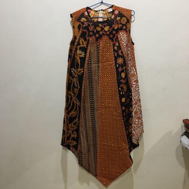 Sleeveless Batik Dress