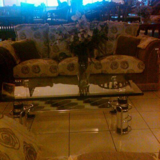 Sofa 1+2+3 Mewah Motif Bunga