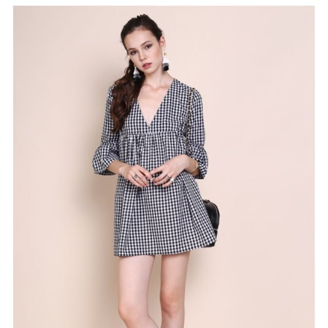 918bb05ae7ee SSG Sera Gingham Babydoll Dress