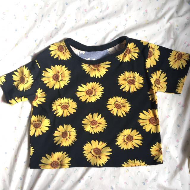 Sunflower Semi Crop Top