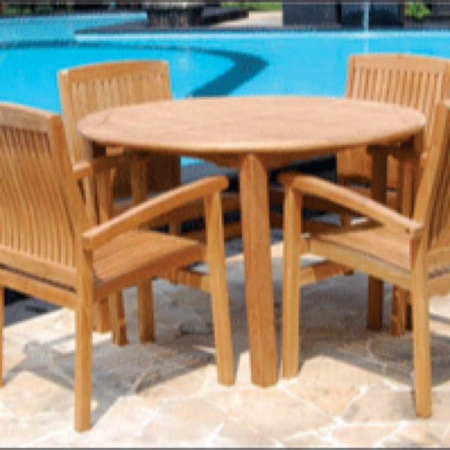 Teak Outdoor Furniture Table And 4 Chairs 599 Teak Furniture