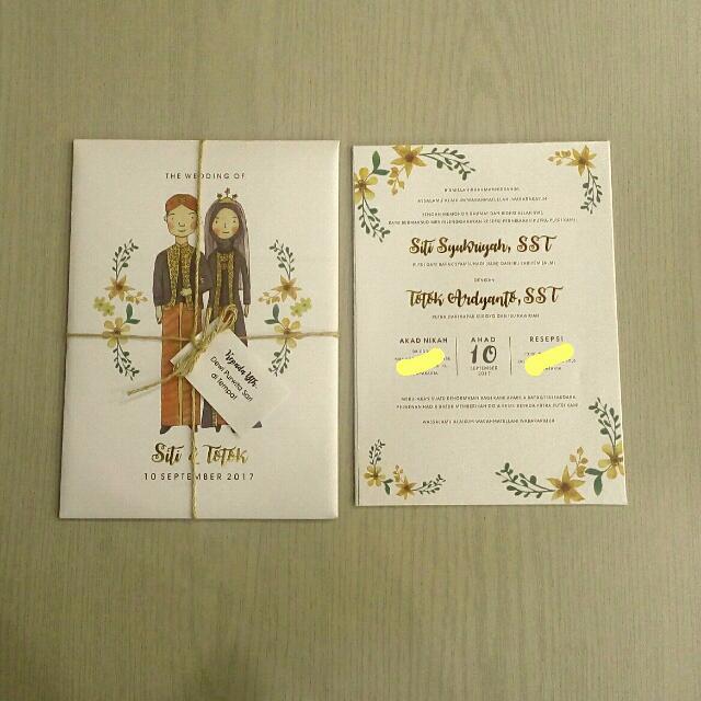 Undangan Pernikahan Unik Design Craft Others On Carousell