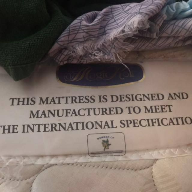 Used Single Size Magic Koil Good Morning Spring Mattress (2pcs)