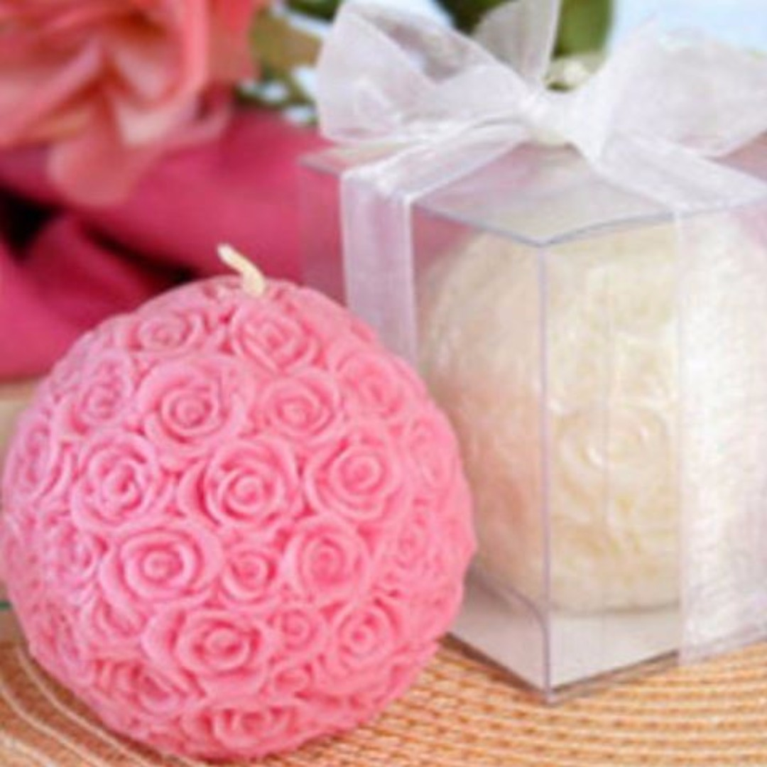 WEDDING FAVOR CLEARANCE SALE! Elegant Rose Ball Candle Favor on ...