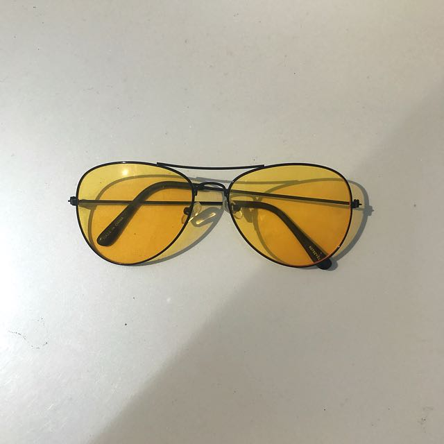 Yellow lens Aviator Glasses