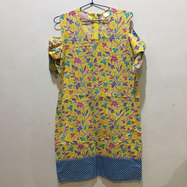 Yellow Sabrina Dress Batik