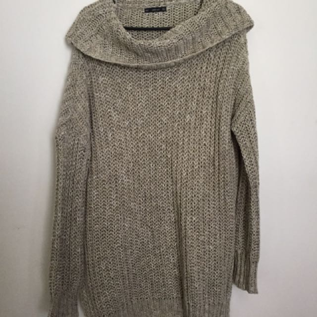 Zara Long Thigh Length Warm Turtle Neck Sweater