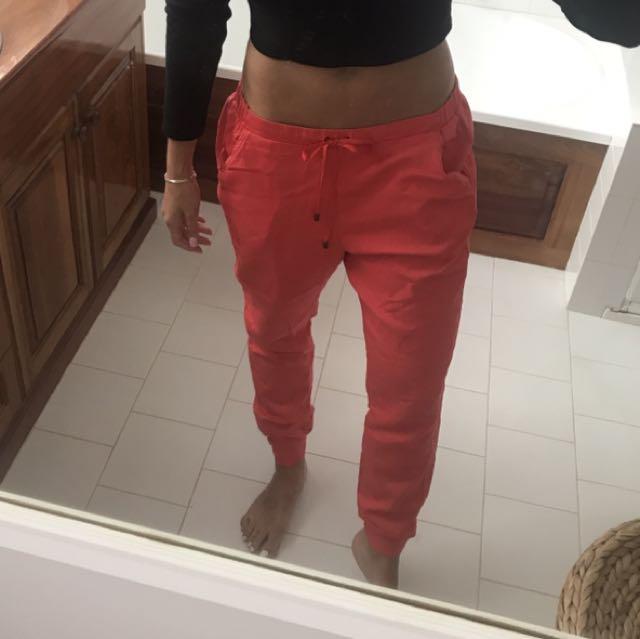 Zara red pants/trackies