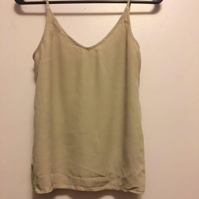 Zara Taupe/beige Tank Top