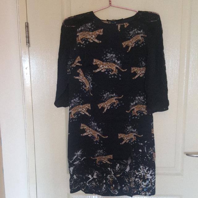 Zara Women Dress Satin Xs