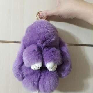 Kopenhagen Fur Rabbit Keychain (Purple)