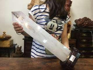 優質巴西天然白水晶 超大柱 水晶大柱 六角尖頭 招財聚氣 清透料 激光材 開運風水件
