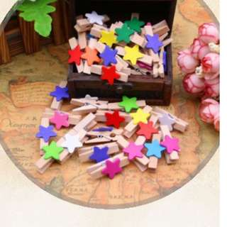 Star Wooden Clips