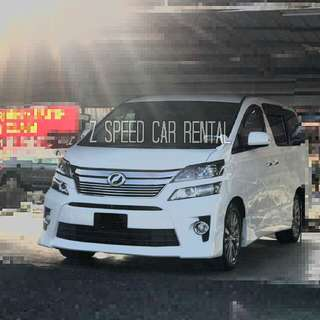 Vellfire Ready For Rent