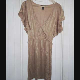 H&M金色洋裝