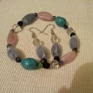 Bracelet And Long Earrings