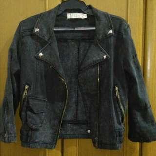 Whitewash Crop Jacket (S)