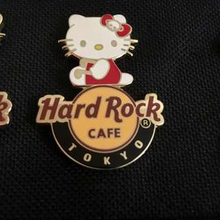 Hello Kitty Japan  Limited Edition Hard Rock Pin Collectible