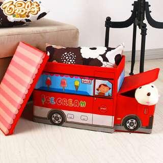 Kids Toy Storage Non Woven Box/Home Multipurpose Storage/Seat