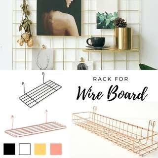RACK/ BASKET/ SHELF for Wire Wall Grid/ Memo Board