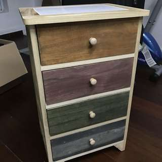 Multi-coloured drawer cabinet