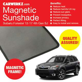 Quality Subaru Forester 12-17 4th Gen SJ XT Magnetic Sunshade 6 Pcs